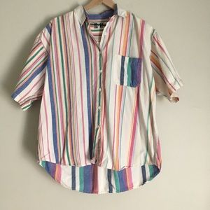 HG NY vintage 90s striped button down shirt
